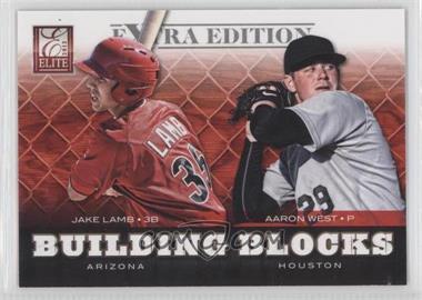 2012 Elite Extra Edition Building Blocks Dual #11 - Aaron West, Jake Lamb