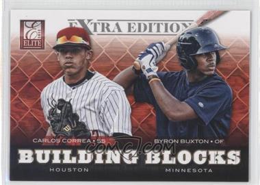 2012 Elite Extra Edition Building Blocks Dual #15 - Byron Buxton, Carlos Correa