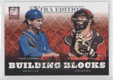 2012 Elite Extra Edition Building Blocks Dual #19 - Mike Zunino, Stryker Trahan
