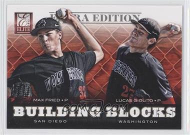2012 Elite Extra Edition Building Blocks Dual #3 - Lucas Giolito, Max Fried