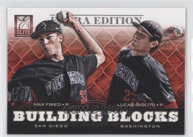 2012 Elite Extra Edition Building Blocks Dual #3 - Lucas Giolito, Max Fried