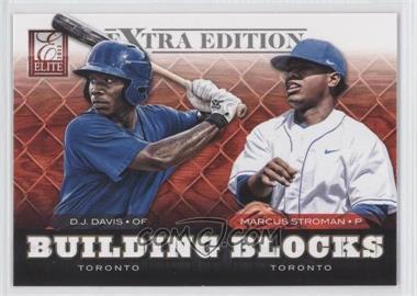 2012 Elite Extra Edition Building Blocks Dual #5 - D.J. Davis, Marcus Stroman