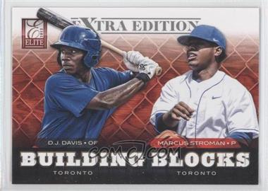 2012 Elite Extra Edition Building Blocks Dual #5 - D.J. Davis, Marcus Stroman