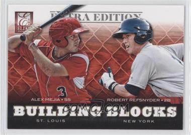 2012 Elite Extra Edition Building Blocks Dual #6 - Alex Mejia, Robert Refsnyder