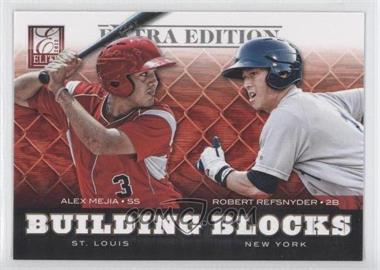 2012 Elite Extra Edition Building Blocks Dual #6 - Alex Mejia, Robert Refsnyder