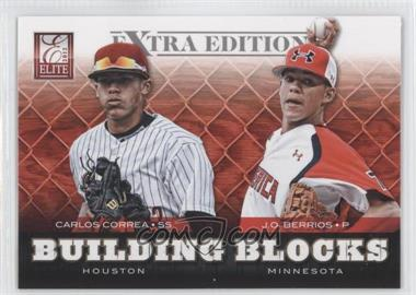 2012 Elite Extra Edition Building Blocks Dual #7 - J.O. Berrios, Carlos Correa