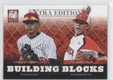 2012 Elite Extra Edition Building Blocks Dual #7 - J.O. Berrios, Carlos Correa