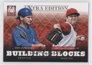 2012 Elite Extra Edition Building Blocks Dual #8 - Brian Johnson, Mike Zunino