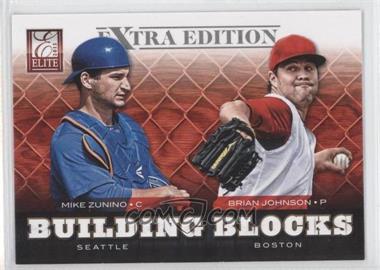 2012 Elite Extra Edition Building Blocks Dual #8 - Brian Johnson, Mike Zunino