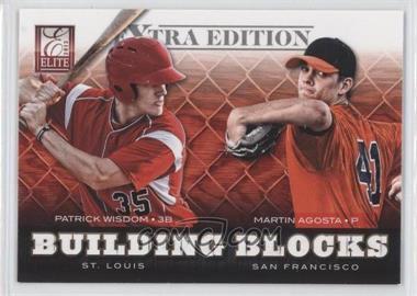 2012 Elite Extra Edition Building Blocks Dual #9 - Patrick Wisdom, Martin Agosta