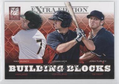 2012 Elite Extra Edition Building Blocks Trio #1 - Max Muncy, Josh Turley, Logan Vick
