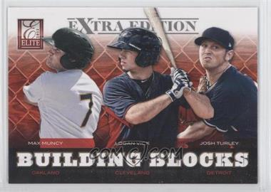 2012 Elite Extra Edition Building Blocks Trio #1 - Max Muncy, Josh Turley, Logan Vick
