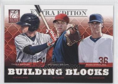 2012 Elite Extra Edition Building Blocks Trio #2 - Tyler Naquin, Michael Wacha, Ross Stripling
