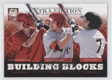 2012 Elite Extra Edition Building Blocks Trio #3 - Alex Yarbrough, Max Muncy, Preston Beck