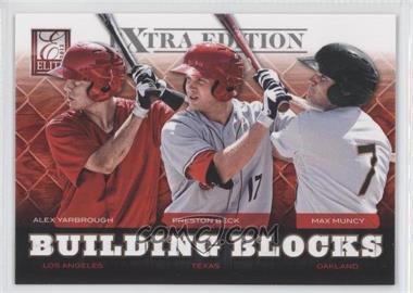 2012 Elite Extra Edition Building Blocks Trio #3 - Alex Yarbrough, Max Muncy, Preston Beck