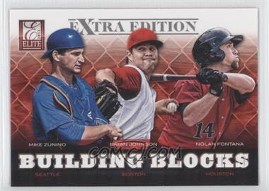 2012 Elite Extra Edition Building Blocks Trio #4 - Nolan Fontana, Brian Johnson, Mike Zunino