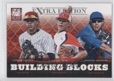 2012 Elite Extra Edition Building Blocks Trio #6 - Carlos Correa, J.O. Berrios, Jesmuel Valentin