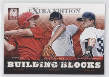 2012 Elite Extra Edition Building Blocks Trio #7 - Jake Thompson, Spencer Edwards, Jake Thompson, Steve Bean