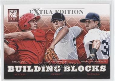 2012 Elite Extra Edition Building Blocks Trio #7 - Jake Thompson, Spencer Edwards, Jake Thompson, Steve Bean