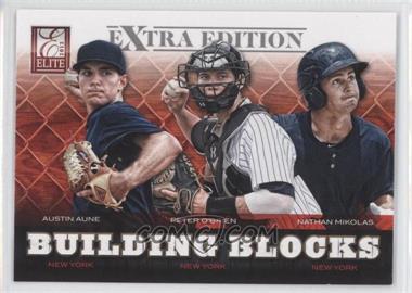 2012 Elite Extra Edition Building Blocks Trio #9 - Austin Aune, Nathan Mikolas, Peter O'Brien