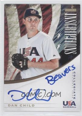 2012 Elite Extra Edition Collegiate National Team Inscriptions #3 - Dan Child /10