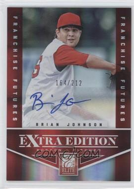 2012 Elite Extra Edition Franchise Futures Signatures [Autographed] #14 - Brian Johnson /212