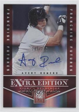 2012 Elite Extra Edition Franchise Futures Signatures [Autographed] #32 - Avery Romero /275