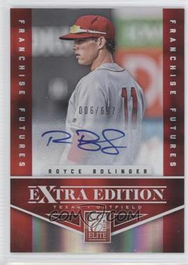 2012 Elite Extra Edition Franchise Futures Signatures [Autographed] #55 - Royce Bolinger /697