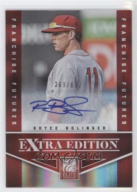 2012 Elite Extra Edition Franchise Futures Signatures [Autographed] #55 - Royce Bolinger /697