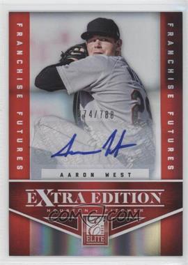 2012 Elite Extra Edition Franchise Futures Signatures [Autographed] #83 - Aaron West /788