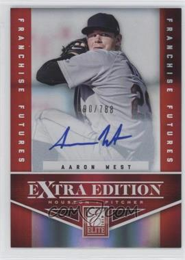 2012 Elite Extra Edition Franchise Futures Signatures [Autographed] #83 - Aaron West /788