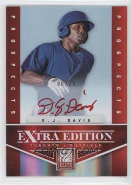 2012 Elite Extra Edition Prospects Autographs Red Ink [Autographed] #112 - D.J. Davis /25