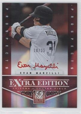 2012 Elite Extra Edition Prospects Autographs Red Ink [Autographed] #189 - Evan Marzilli /25