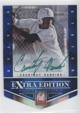 2012 Elite Extra Edition Status Blue Die-Cut Green Ink Signatures #109 - Courtney Hawkins /50