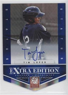 2012 Elite Extra Edition Status Blue Die-Cut Signatures #143 - Tim Lopes /50