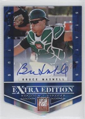 2012 Elite Extra Edition Status Blue Die-Cut Signatures #145 - Bruce Maxwell /50
