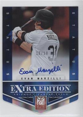 2012 Elite Extra Edition Status Blue Die-Cut Signatures #189 - Evan Marzilli /50