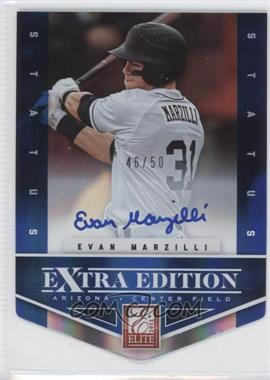2012 Elite Extra Edition Status Blue Die-Cut Signatures #189 - Evan Marzilli /50