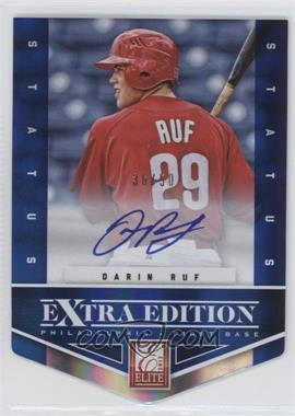 2012 Elite Extra Edition Status Blue Die-Cut Signatures #199 - Darin Ruf /50