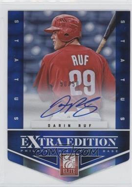 2012 Elite Extra Edition Status Blue Die-Cut Signatures #199 - Darin Ruf /50