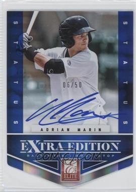 2012 Elite Extra Edition Status Blue Die-Cut Signatures #200 - Adrian Marin /50