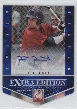 2012 Elite Extra Edition Status Blue Die-Cut Signatures #77 - Rio Ruiz /50