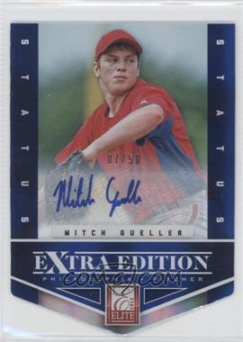 2012 Elite Extra Edition Status Blue Die-Cut Signatures #8 - Mitch Gueller /50