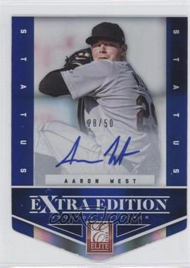 2012 Elite Extra Edition Status Blue Die-Cut Signatures #83 - Aaron West /50