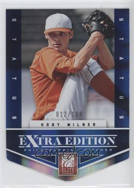 2012 Elite Extra Edition Status Blue Die-Cut #197 - Hoby Milner /100