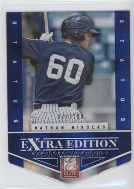 2012 Elite Extra Edition Status Blue Die-Cut #42 - Nathan Mikolas /100