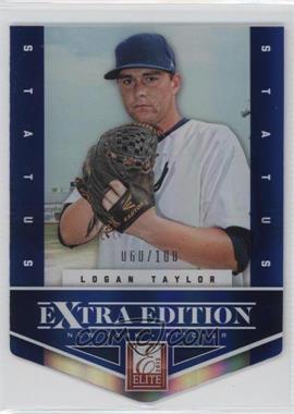 2012 Elite Extra Edition Status Blue Die-Cut #74 - Logan Taylor /100