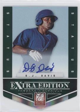 2012 Elite Extra Edition Status Emerald Die-Cut Signatures [Autographed] #112 - D.J. Davis /25