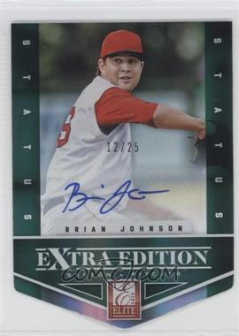 2012 Elite Extra Edition Status Emerald Die-Cut Signatures [Autographed] #14 - Brian Johnson /25
