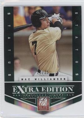 2012 Elite Extra Edition Status Emerald Die-Cut #179 - Mac Williamson /25